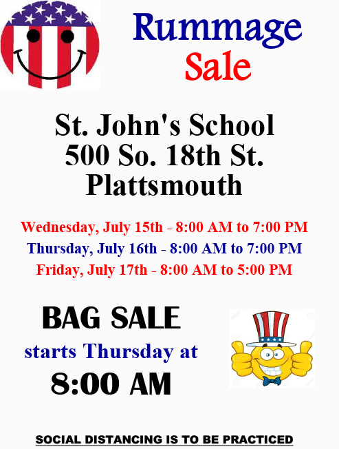 July Rummage Sale Flyer