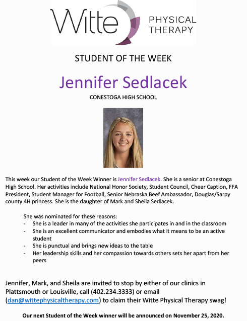 Student of the Week Selection 11